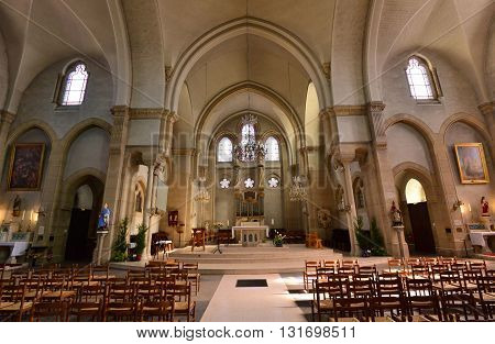 Rambouillet France - mai 6 2016 : Saint Lubin church of 19 th century