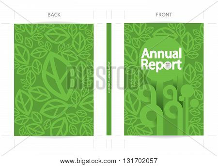 Annual Report Cover Template Vector Illustration. EPS 10