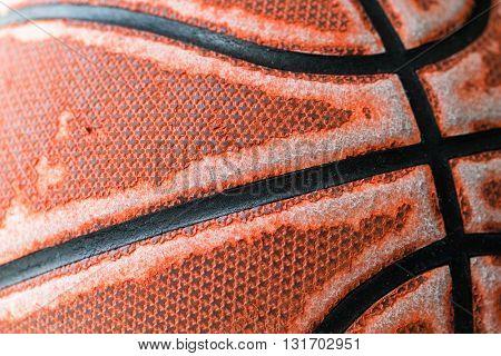 Basketball close up