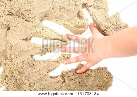 Human Print In Sand