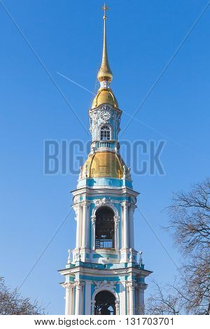 Bell Tower Of Naval Orthodox St. Nicholas Cathedral