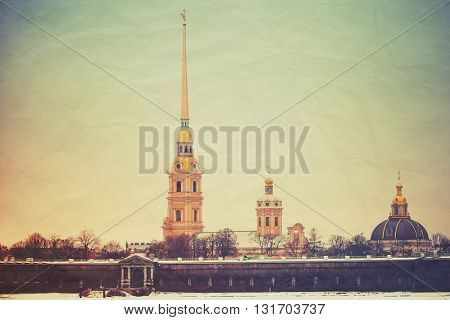 Peter And Paul Fortress,  Saint-petersburg, Retro