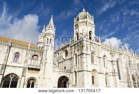 Religious architecture, Jeronimos monastery in Lisbon, Portugal