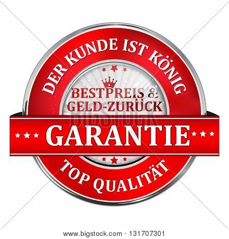 Our client is king. Best price or Money back Guaranteed. Top Quality - business retail red  label in German language.
