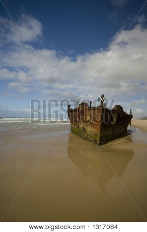 The Wreck Of The Maheno, Fraser Island, Queensland, Australia