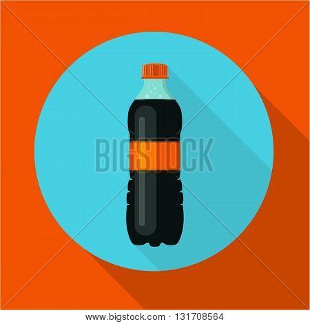 vector illustration a bottle of black soda