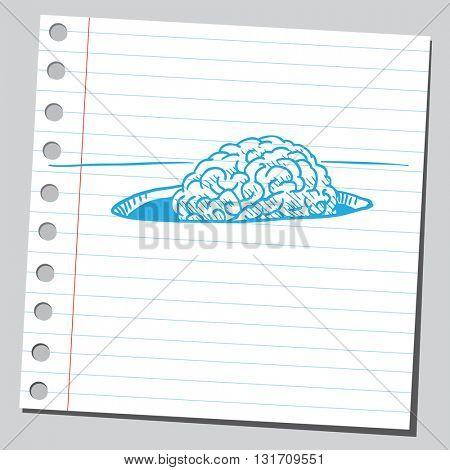 Brain in hole