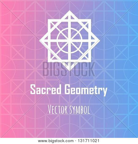 Vector abstract geometric symbol. Modern sacred geometry theme. Background with decorative elements