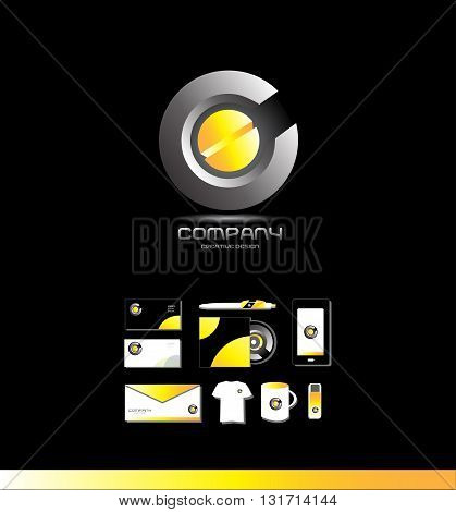 Vector company logo icon element template abstrac circle business corporate games