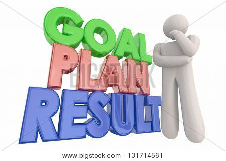 Goal Plan Result Success Thinking Person 3d Illustration