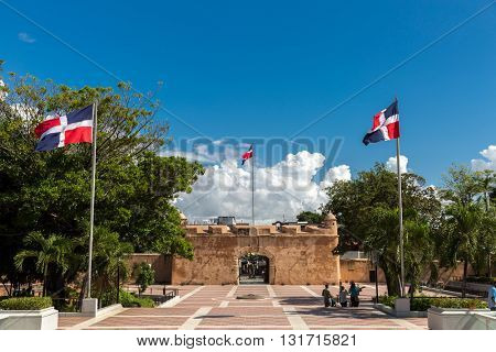 SANTO DOMINGO, DOMINICAN REPUBLIC - CIRCA JAN 2016: Independence Park in Santo Domingo, Dominican Republic