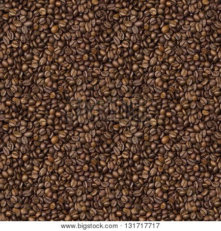 texture with grains of roasted coffee background for print or website design