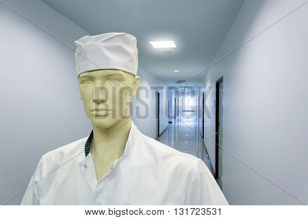Mannequin in the doctor costume