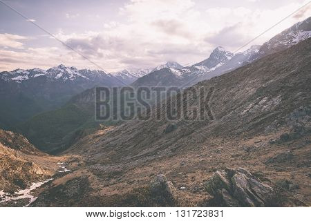 High Altitude Extreme Terrain, Rocky Mountain Peak And Jagged Ridge, With Scenic Dramatic Stormy Sky