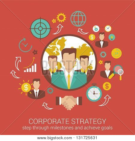 Flat style design vector illustration  infographics concept