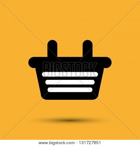 Shopping concept with basket icon esign, vector illustration 10 eps graphic.