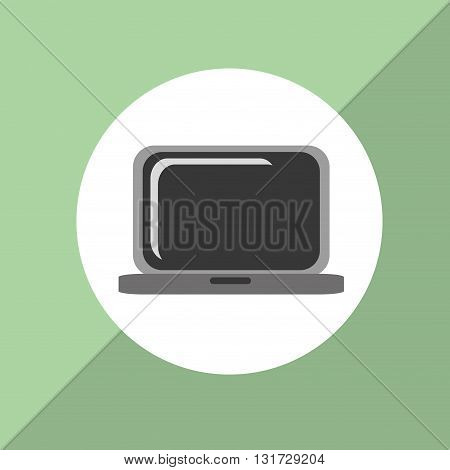 Laptop concept with icon design, vector illustration 10 eps graphic.