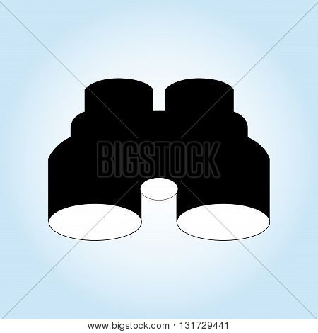 Binoculars concept with icon design, vector illustration 10 eps graphic.