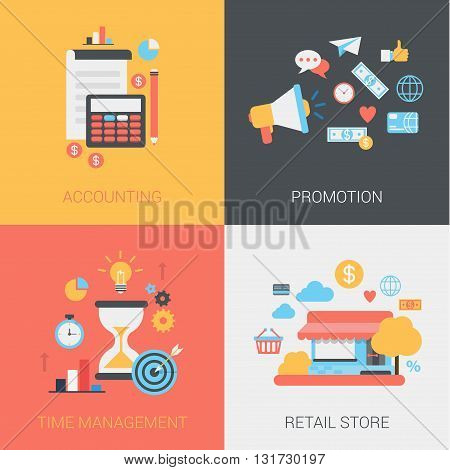 Accounting, promotion, time management, store flat web templates