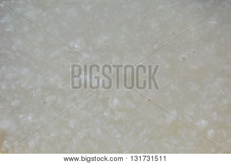 close up of congee grain and texture