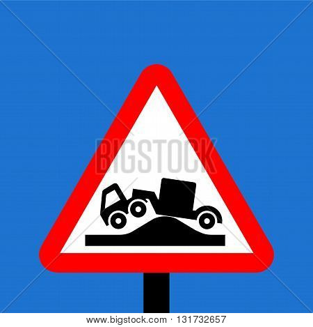 Warning triangle Risk of grounding traffic sign