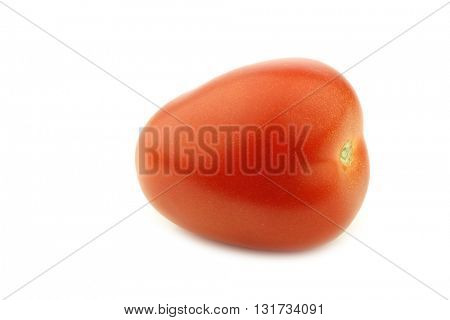 fresh and colorful italian roma tomato on a white background