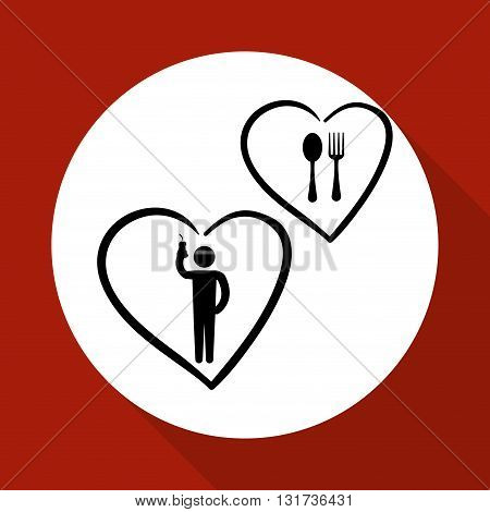 Healthy food concept with icon design, vector illustration 10 eps graphic.