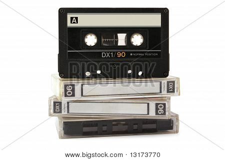 Audio Cassette On Three Boxes