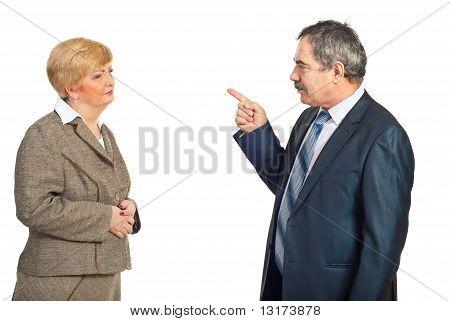 Upset Manager Accuse Employee