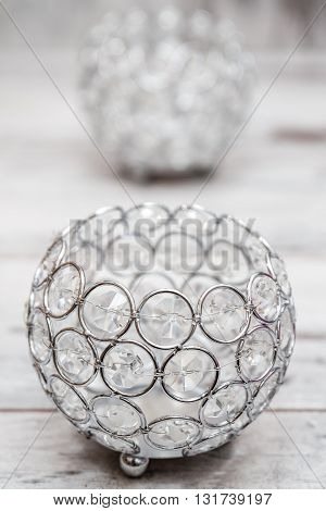 Candle Holders With Crystals