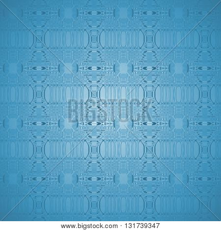 Abstract geometric modern background. Delicate seamless ellipses pattern in light blue shades with blue gray elements, centered and shiny.