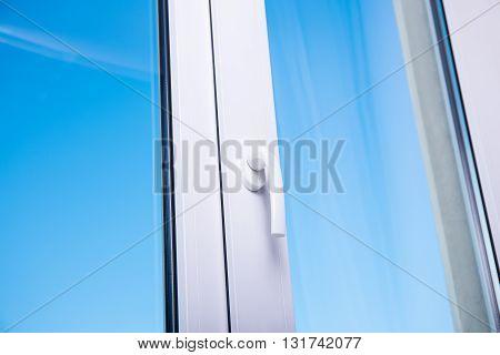 Blue Sky In Modern Plastic Window