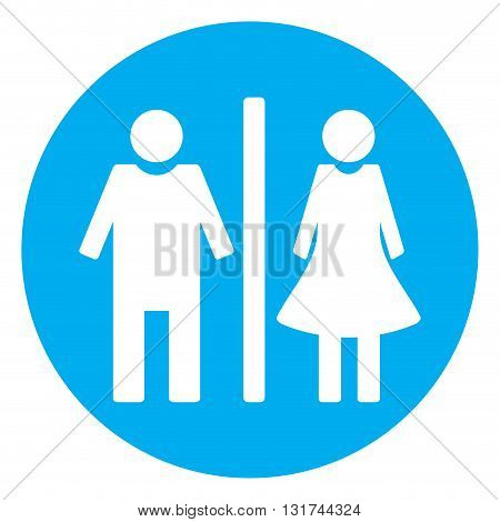 Icon toilet flat. Bathroom and toilet sign wc and toilet icon. Vector illustration