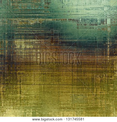 Grunge texture, aged or old style background with retro design elements and different color patterns: yellow (beige); brown; gray; green; cyan