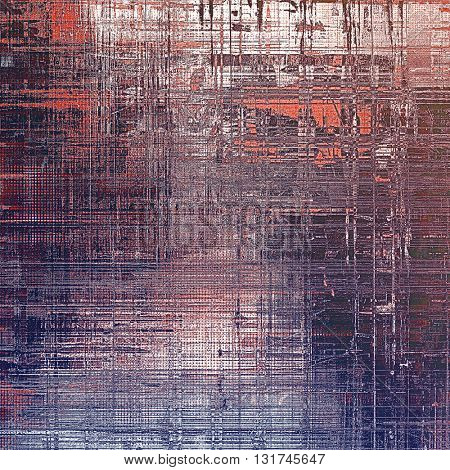 Creative vintage surface texture, close up grunge background composition. With different color patterns: brown; gray; blue; red (orange); purple (violet); pink