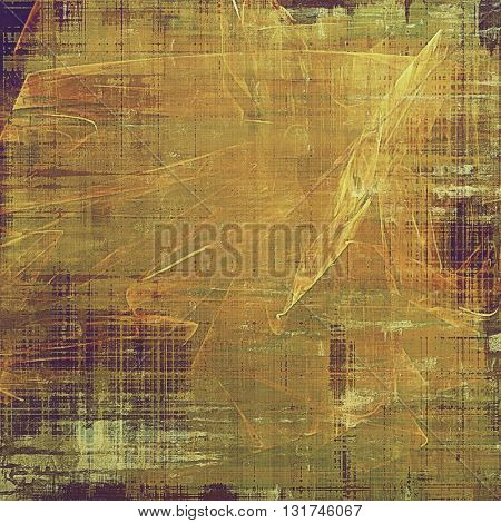 Grunge texture, aged or old style background with retro design elements and different color patterns: yellow (beige); brown; gray; green; red (orange); purple (violet)