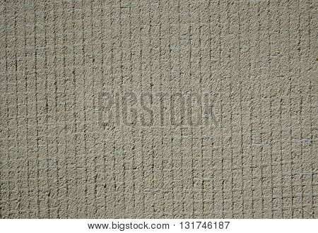 reinforced with fiberglass in blue plaster of the wall of its cement solution - a background