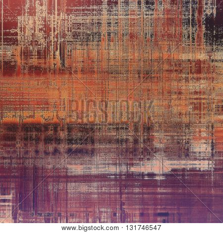 Abstract grunge weathered background of vintage texture. With different color patterns: yellow (beige); brown; gray; red (orange); purple (violet); pink