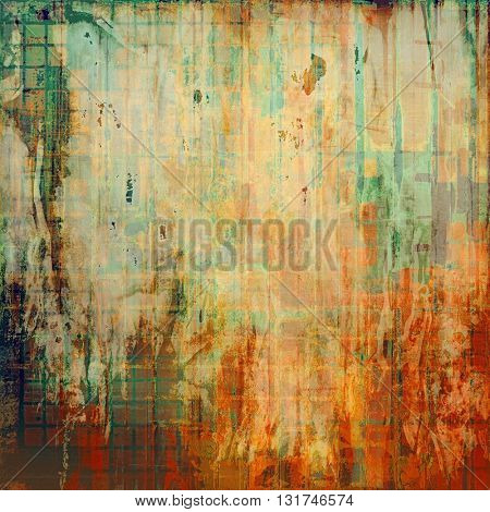 Hi res grunge texture or retro background. With different color patterns: yellow (beige); brown; gray; green; red (orange); cyan