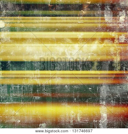 Tinted vintage texture, aged decorative grunge background with traditional antique elements and different color patterns: yellow (beige); brown; gray; green; red (orange)