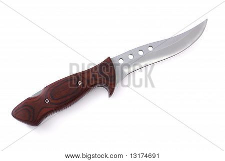 Knife With Wood Handle And Exchangeable Blade