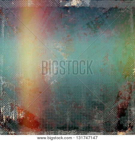 Cute colorful grunge texture or tinted vintage background with different color patterns: yellow (beige); gray; green; blue; red (orange); purple (violet)