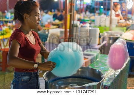 Thai Street Food, Cotton Candy