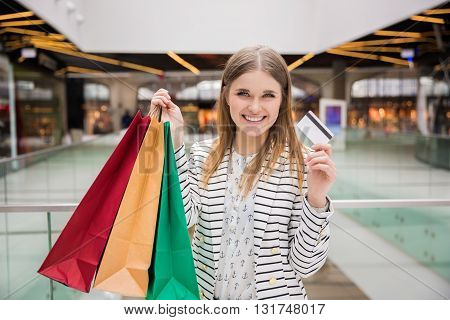 Woman In Shopping Centre