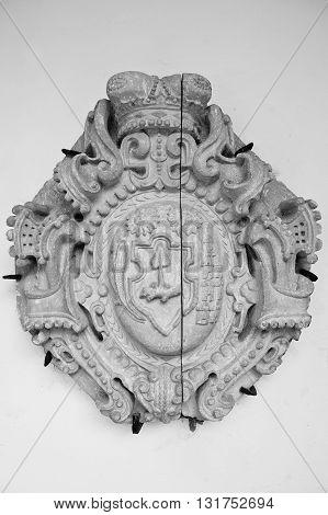 Mukachevo,ukraine - April 11,2016: Logo Emblem Of Palanok Castle
