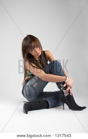 Sexy Woman In Studio