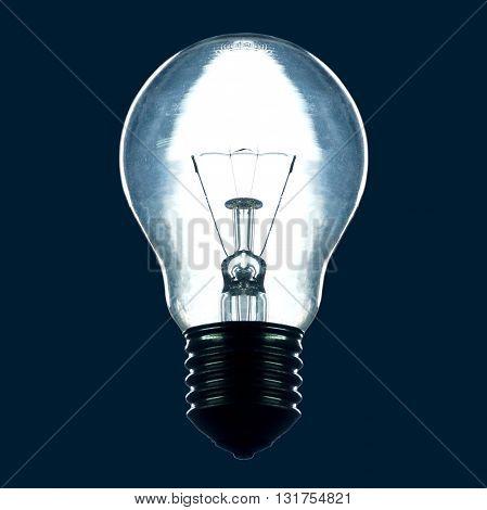 light bulb with rim light in the dark