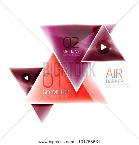 Air triangle abstract background. 3d geometric vector template