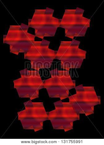 Abstract gigital composition on a black background.Graphic composition.