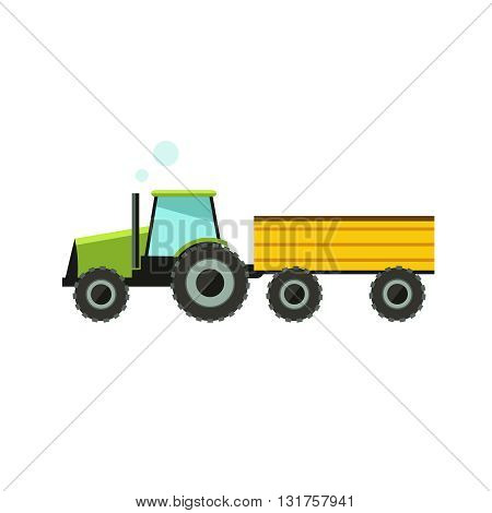 Flat vector illustration tractor icon. Tractor icon art white background.